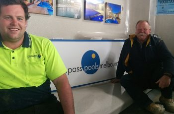 Compass Pools Melbourne Father and Son Pool Builders Team 20y
