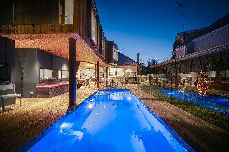 Compass Pools Melbourne Print 5.8mXtrainer Spa Nexus Infloor Quartz Yarraville