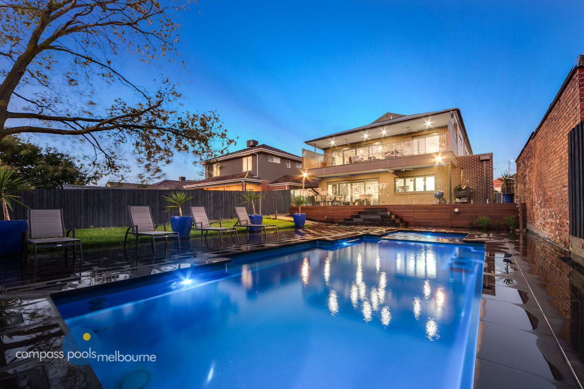 Compass Pools Melbourne Our swimming pools Vogue fibreglass pool Milewa Ave