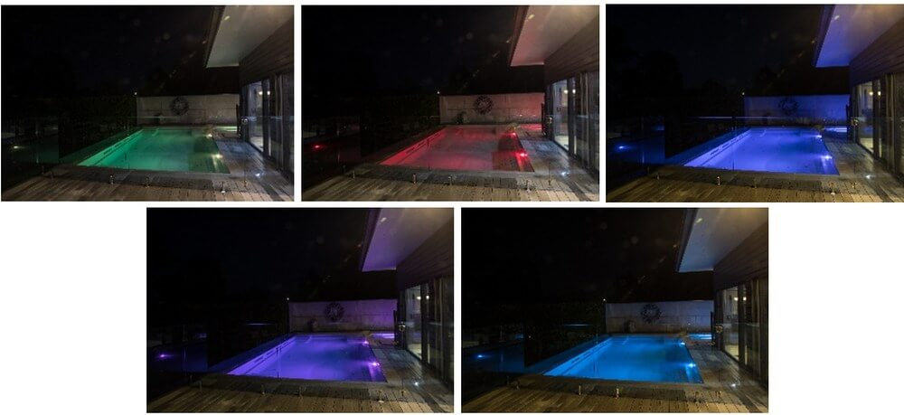 Compass Pools Melbourne Pool lights affecting pool colour