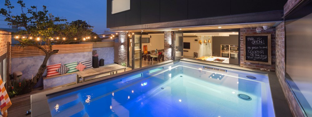 Compass Pools Melbourne Swimming Pool Design Ideas Kitchen overlooking the pool